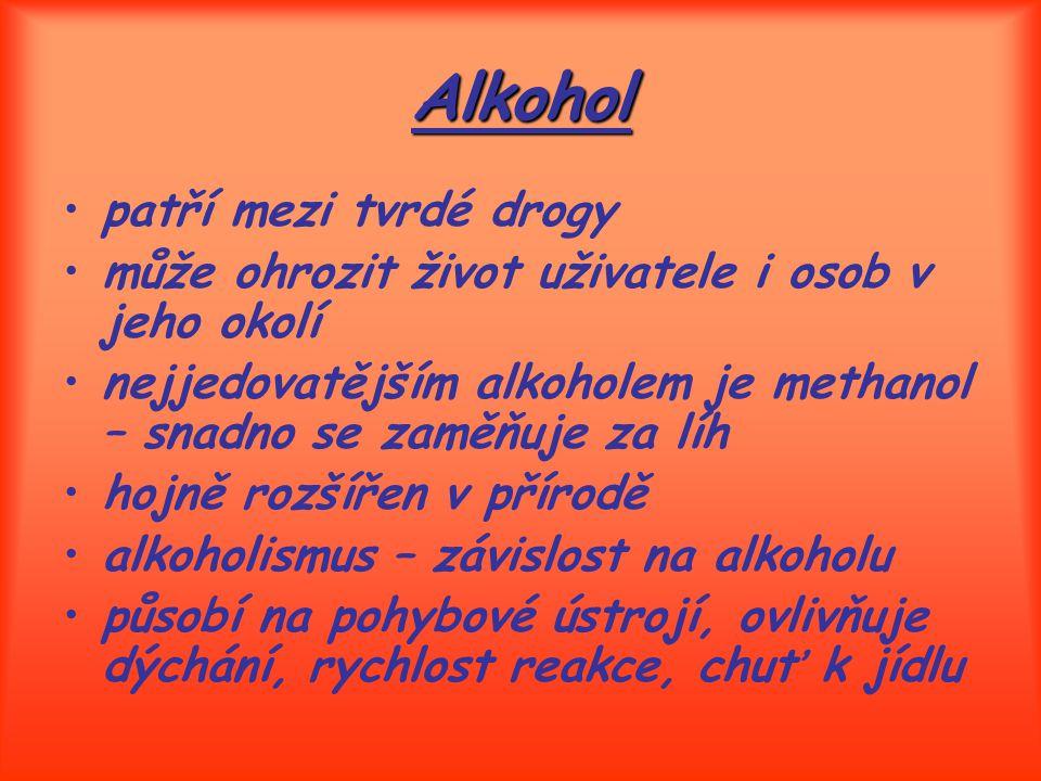 Alkohol patří mezi tvrdé drogy