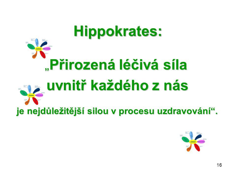 """Hippokrates: uvnitř každého z nás """"Přirozená léčivá síla"""