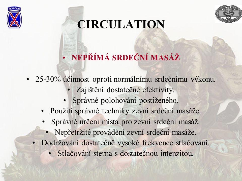 CIRCULATION NEPŘÍMÁ SRDEČNÍ MASÁŽ