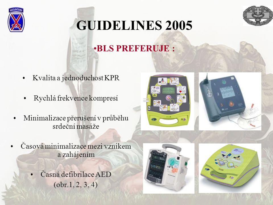 GUIDELINES 2005 BLS PREFERUJE : Kvalita a jednoduchost KPR