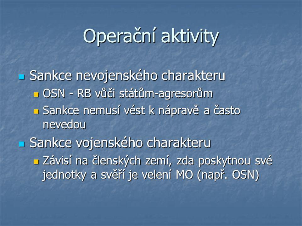 Operační aktivity Sankce nevojenského charakteru