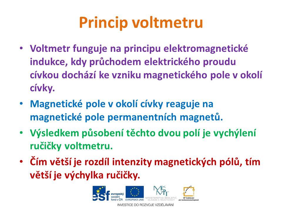 Princip voltmetru