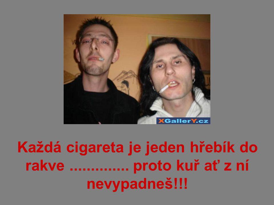 Každá cigareta je jeden hřebík do rakve .............. proto kuř ať z ní nevypadneš!!!