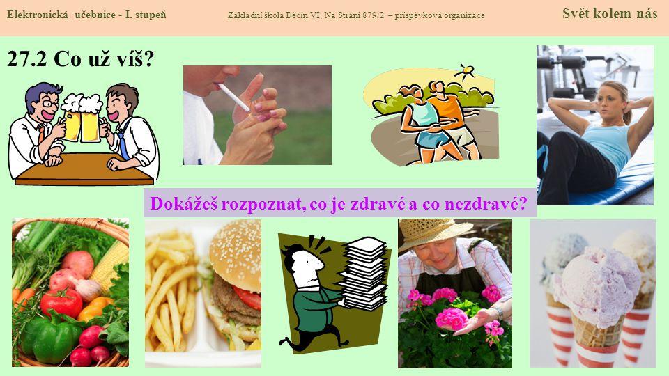 27.2 Co už víš Dokážeš rozpoznat, co je zdravé a co nezdravé