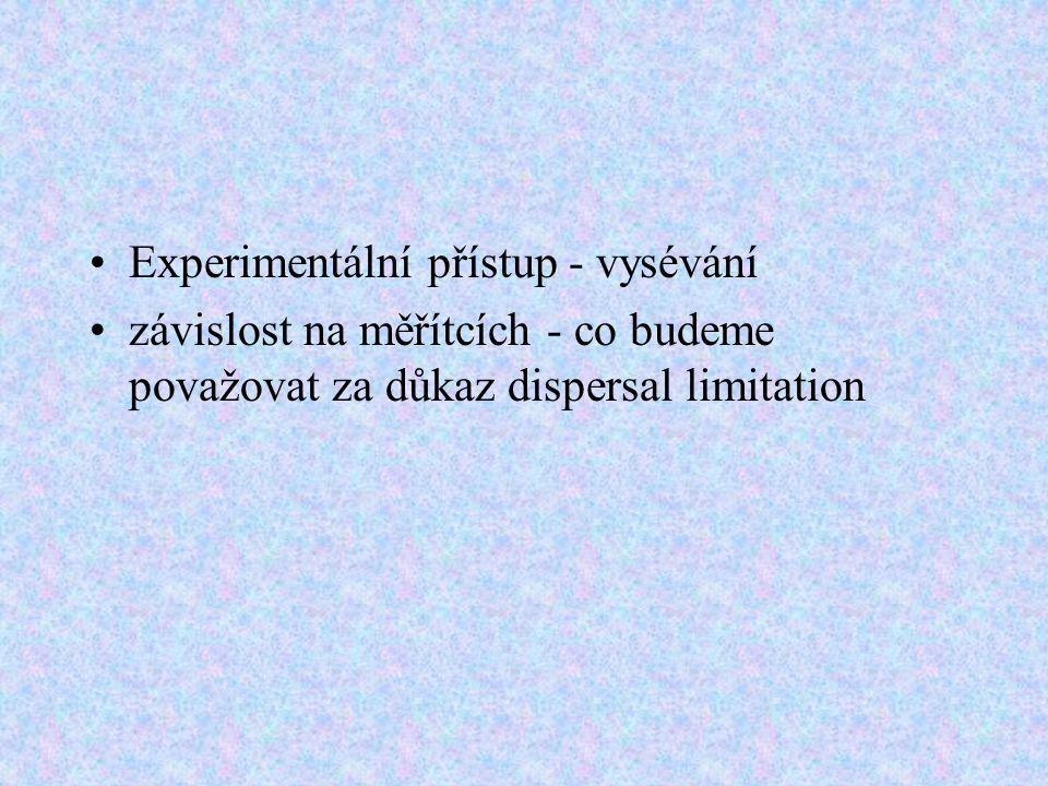 Experimentální přístup - vysévání
