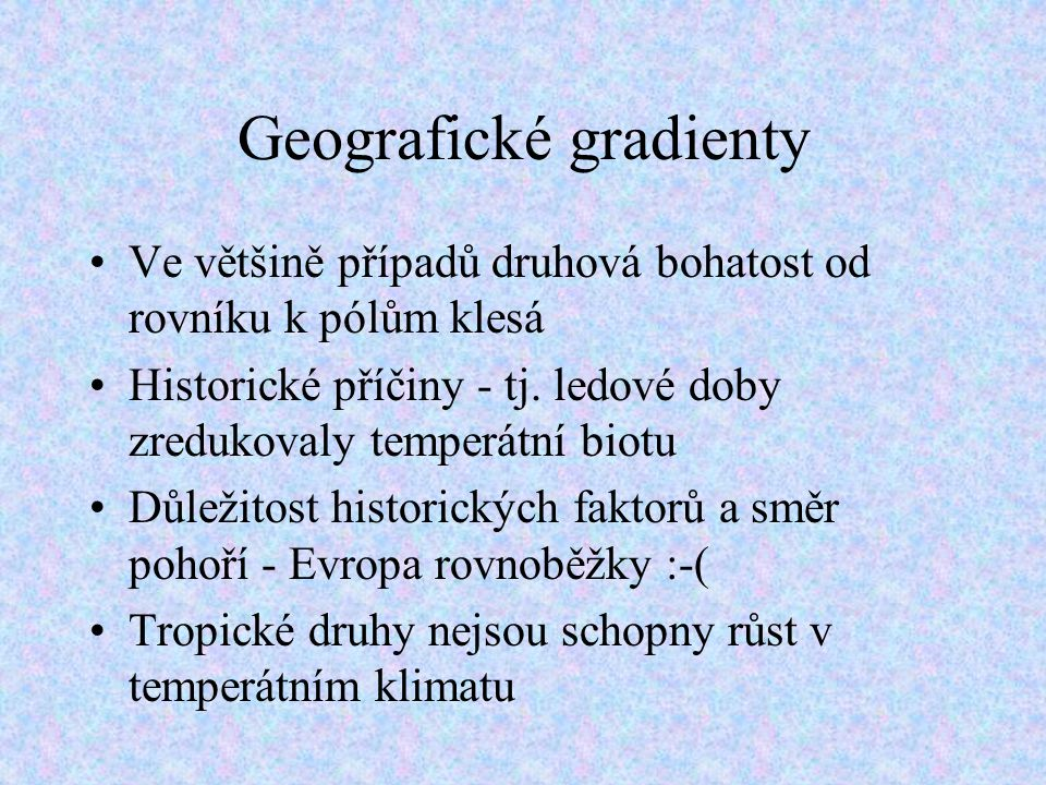 Geografické gradienty