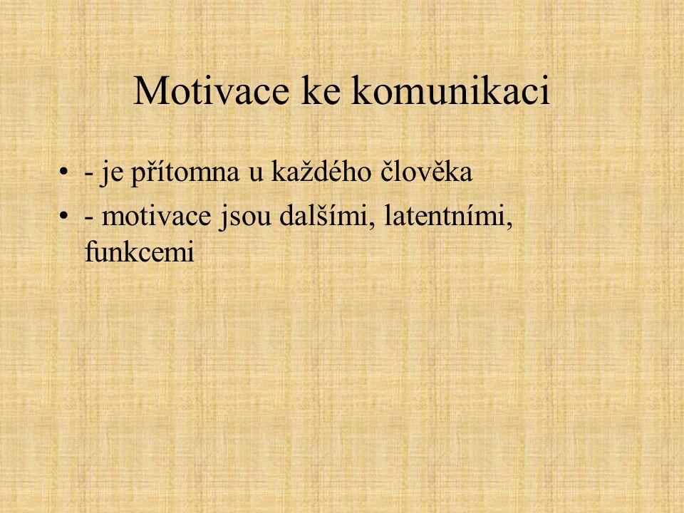 Motivace ke komunikaci