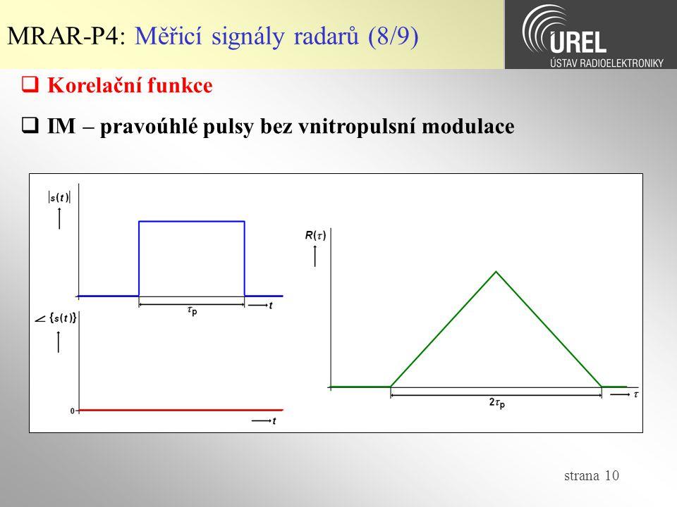 MRAR-P4: Měřicí signály radarů (8/9)