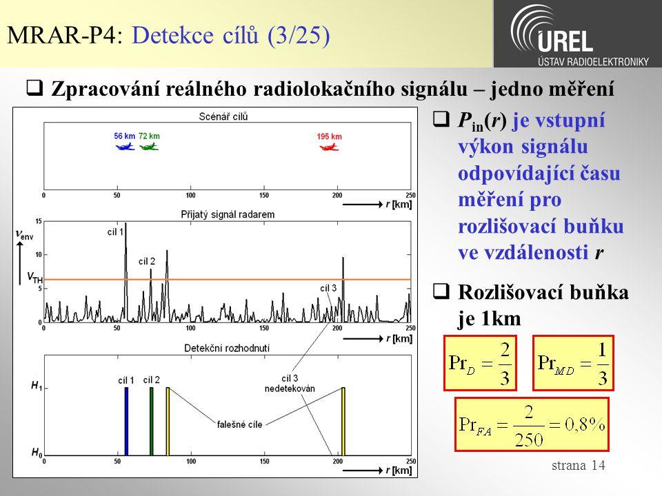 MRAR-P4: Detekce cílů (3/25)