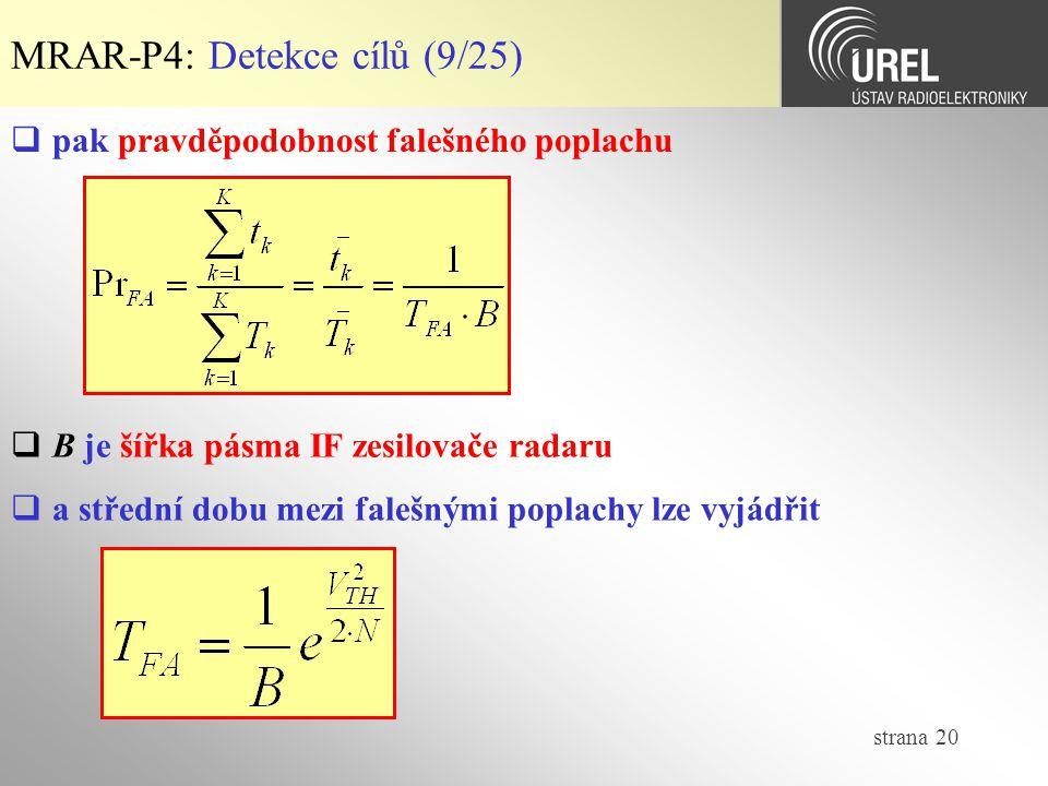MRAR-P4: Detekce cílů (9/25)