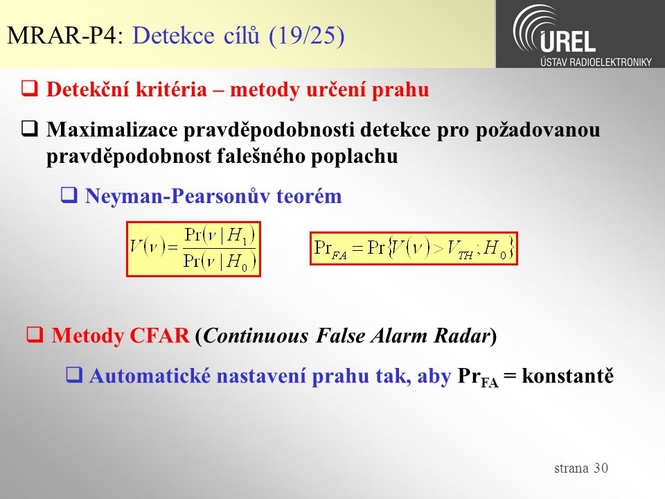 MRAR-P4: Detekce cílů (19/25)