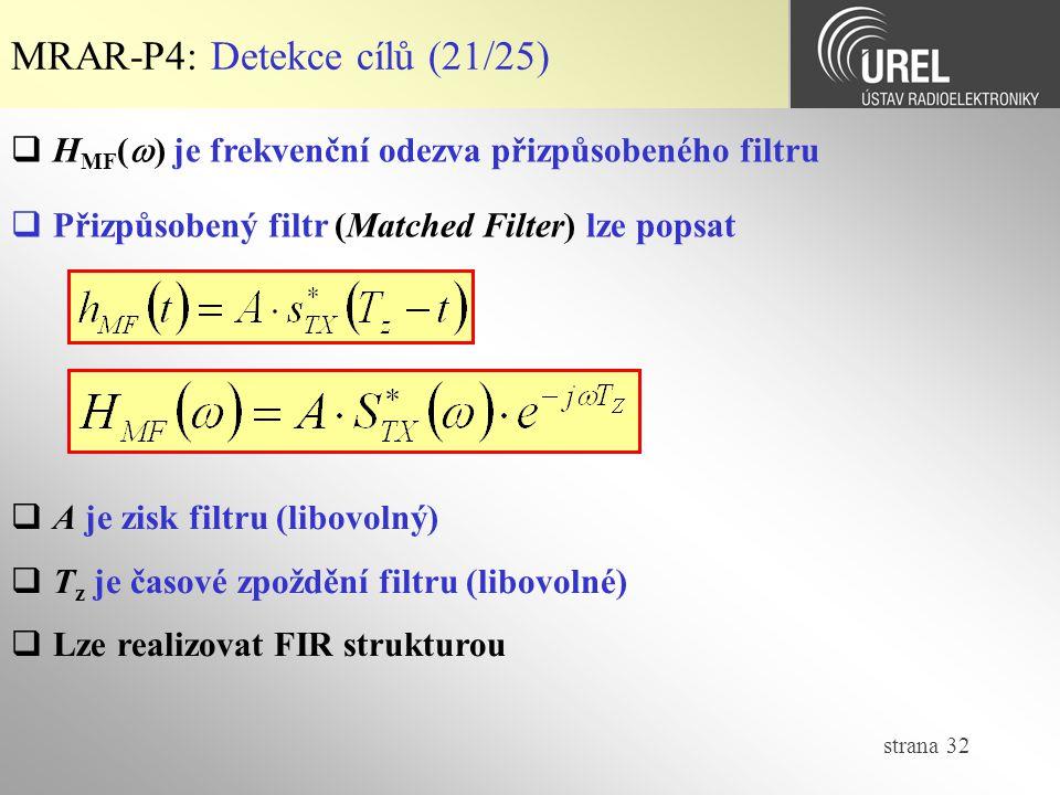 MRAR-P4: Detekce cílů (21/25)