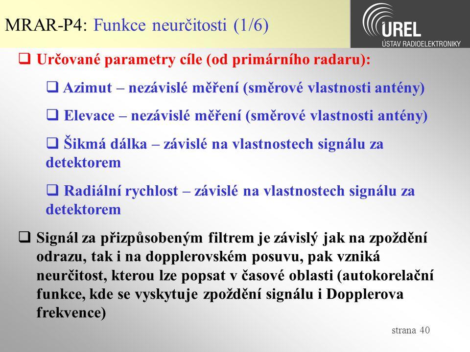 MRAR-P4: Funkce neurčitosti (1/6)
