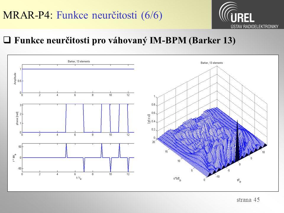 MRAR-P4: Funkce neurčitosti (6/6)