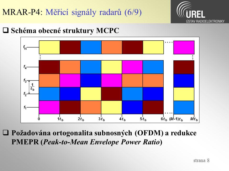 MRAR-P4: Měřicí signály radarů (6/9)