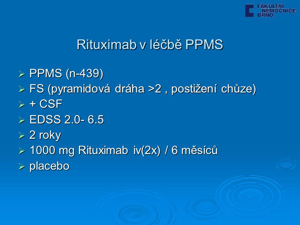 Rituximab v léčbě PPMS PPMS (n-439)