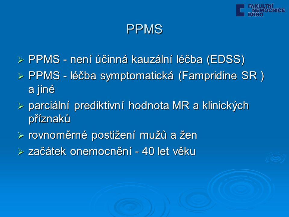 PPMS PPMS - není účinná kauzální léčba (EDSS)