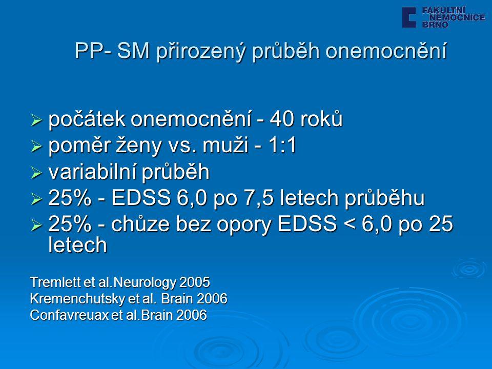 PP- SM přirozený průběh onemocnění