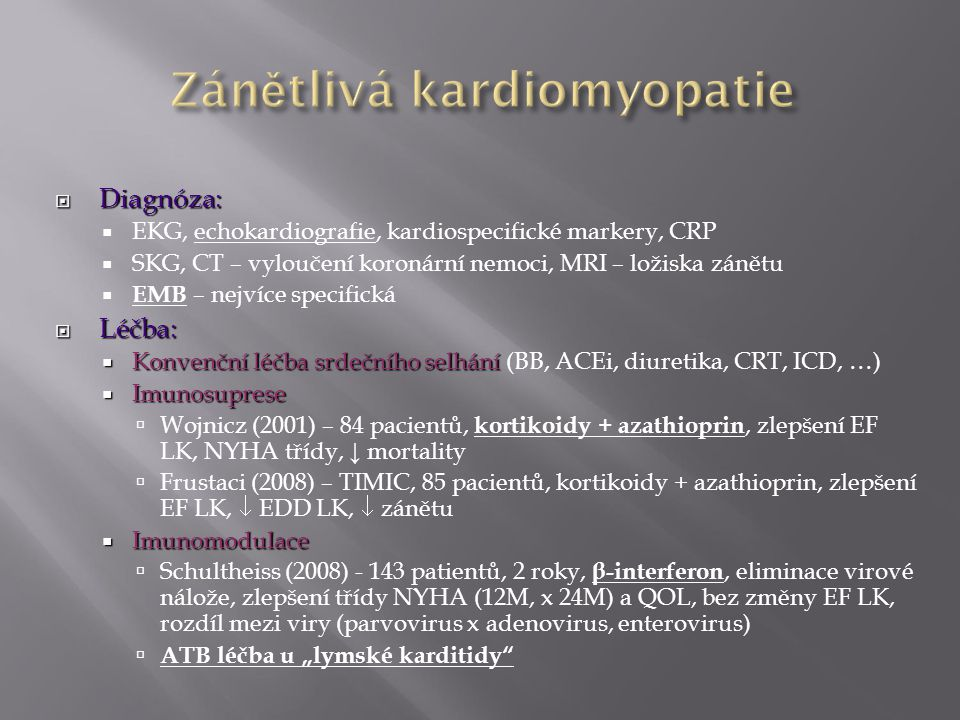 Zánětlivá kardiomyopatie