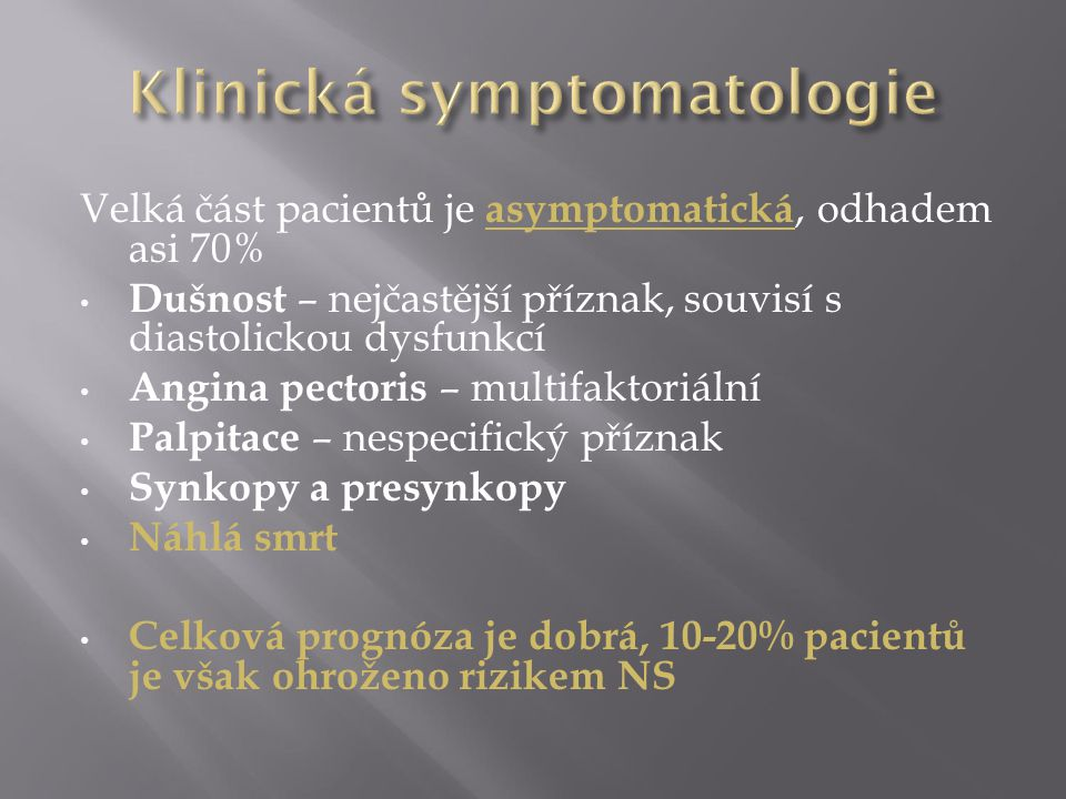Klinická symptomatologie