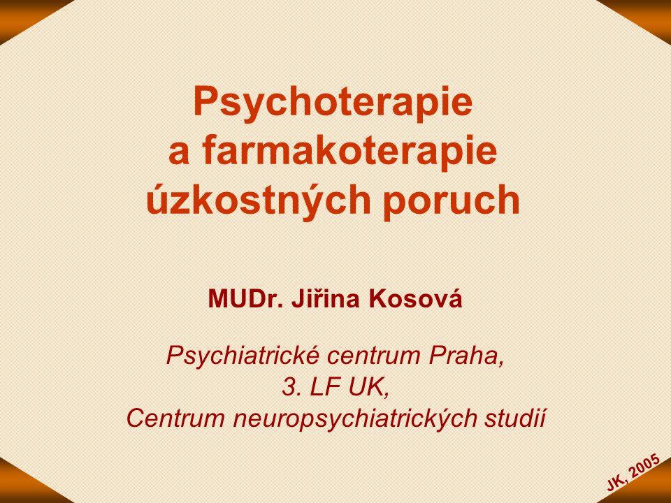Psychoterapie a farmakoterapie úzkostných poruch