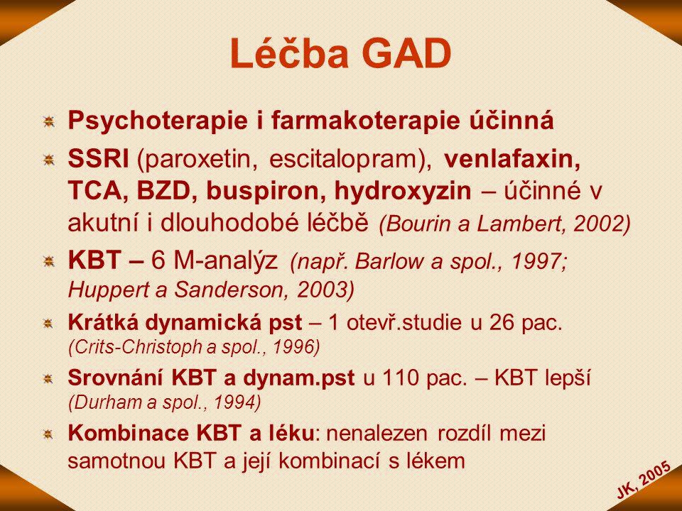 Léčba GAD Psychoterapie i farmakoterapie účinná