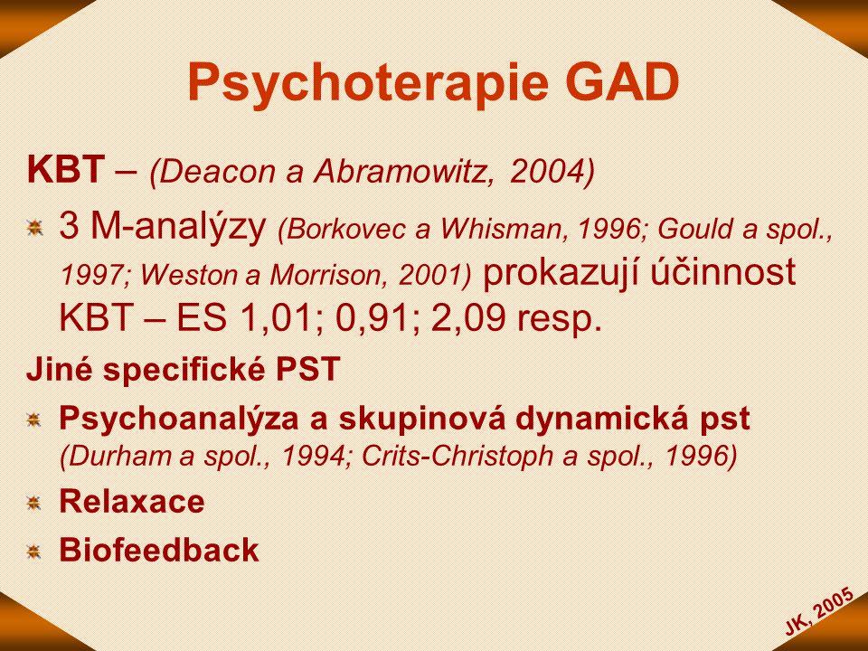 Psychoterapie GAD KBT – (Deacon a Abramowitz, 2004)