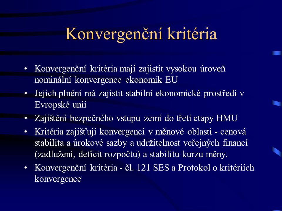 Konvergenční kritéria