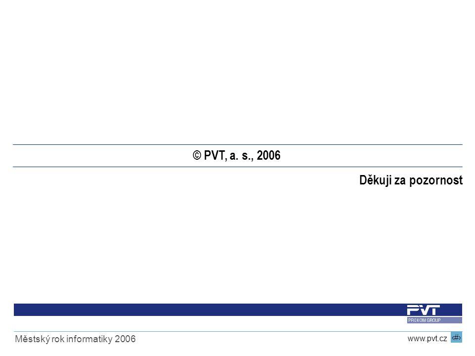 © PVT, a. s., 2006 Děkuji za pozornost