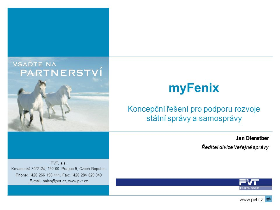 myFenix Koncepční řešení pro podporu rozvoje