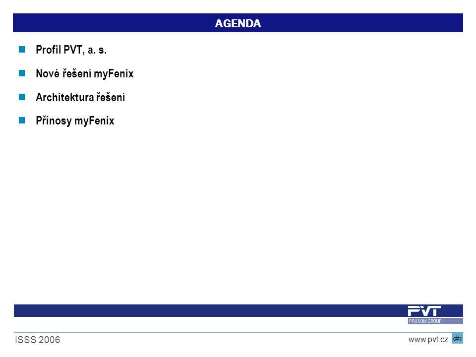 AGENDA Profil PVT, a. s. Nové řešení myFenix Architektura řešení Přínosy myFenix