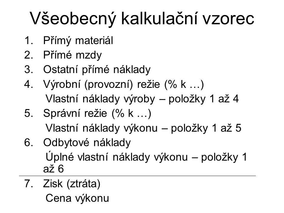 Všeobecný kalkulační vzorec