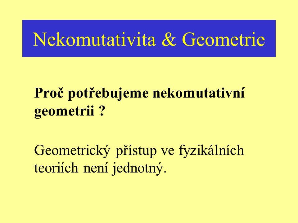 Nekomutativita & Geometrie