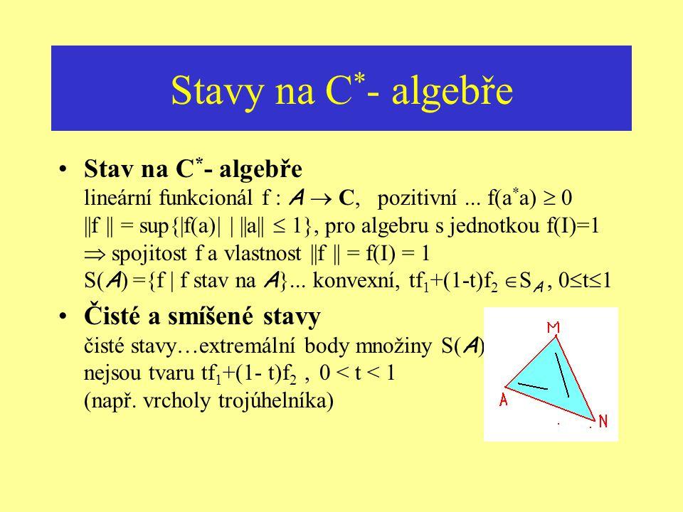 Stavy na C*- algebře