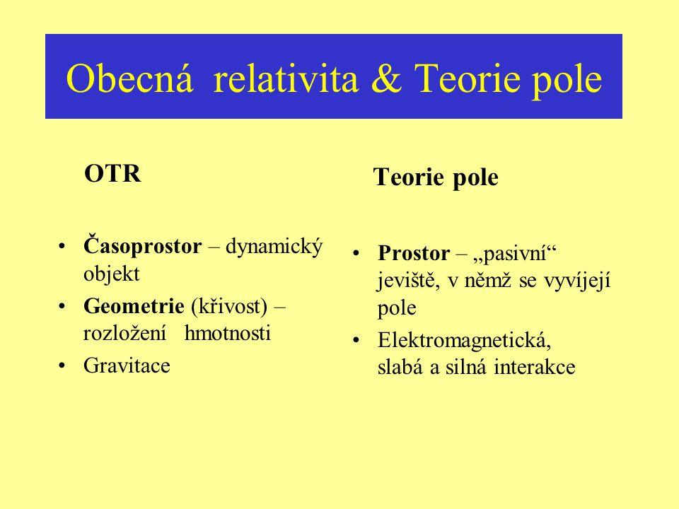 Obecná relativita & Teorie pole