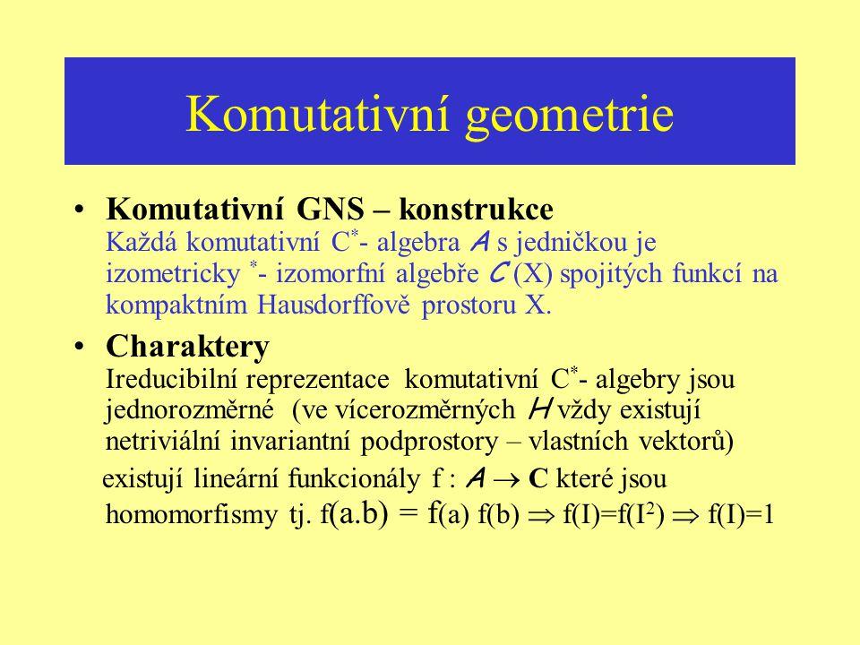 Komutativní geometrie