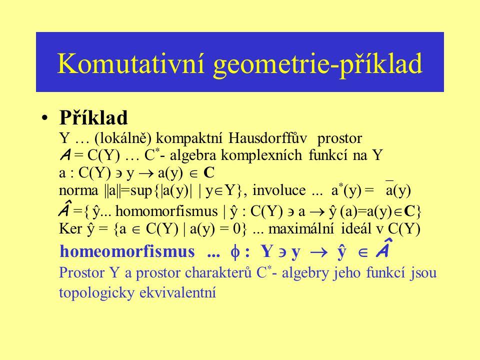 Komutativní geometrie-příklad