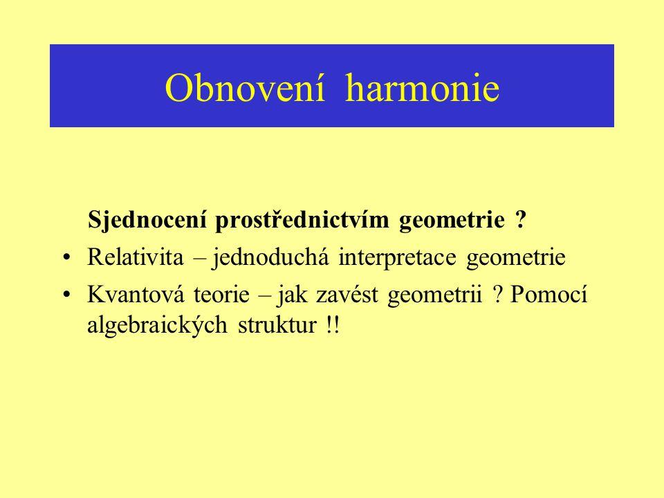 Obnovení harmonie Sjednocení prostřednictvím geometrie