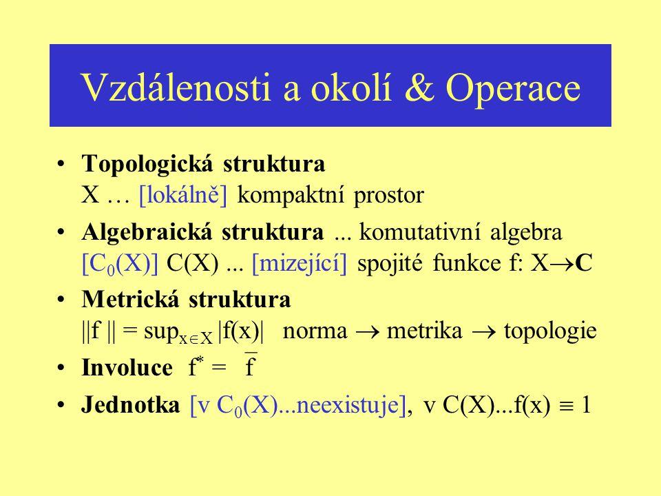 Vzdálenosti a okolí & Operace