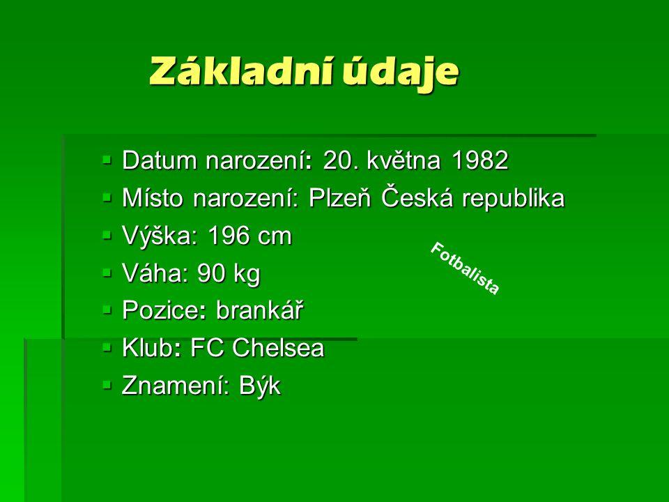 Základní údaje Datum narození: 20. května 1982
