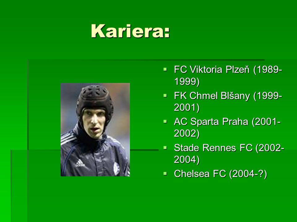 Kariera: FC Viktoria Plzeň (1989-1999) FK Chmel Blšany (1999-2001)