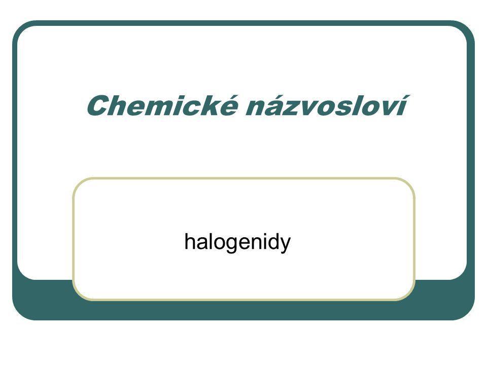 Chemické názvosloví halogenidy