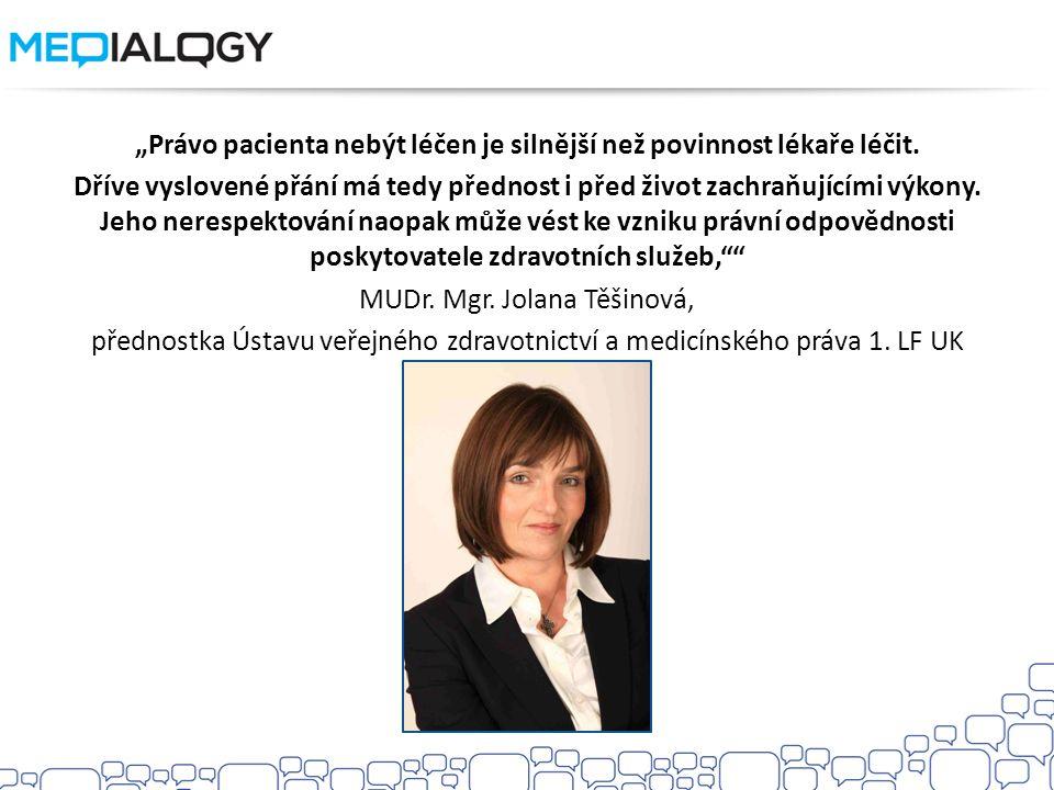 """""""Právo pacienta nebýt léčen je silnější než povinnost lékaře léčit"""