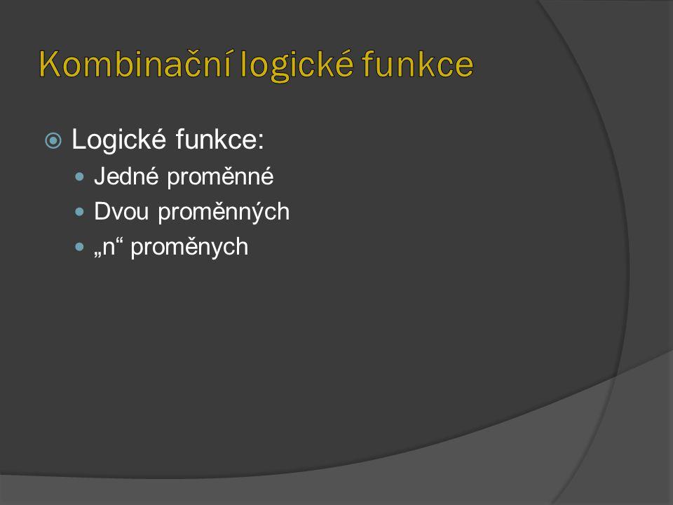 Kombinační logické funkce