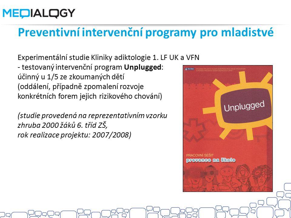 Preventivní intervenční programy pro mladistvé