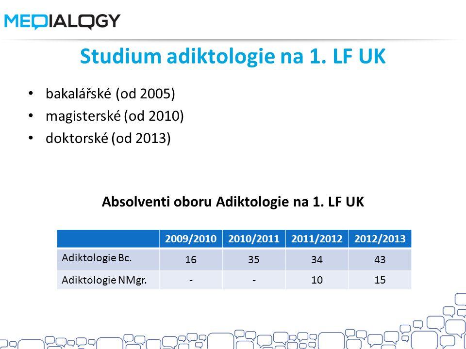 Studium adiktologie na 1. LF UK