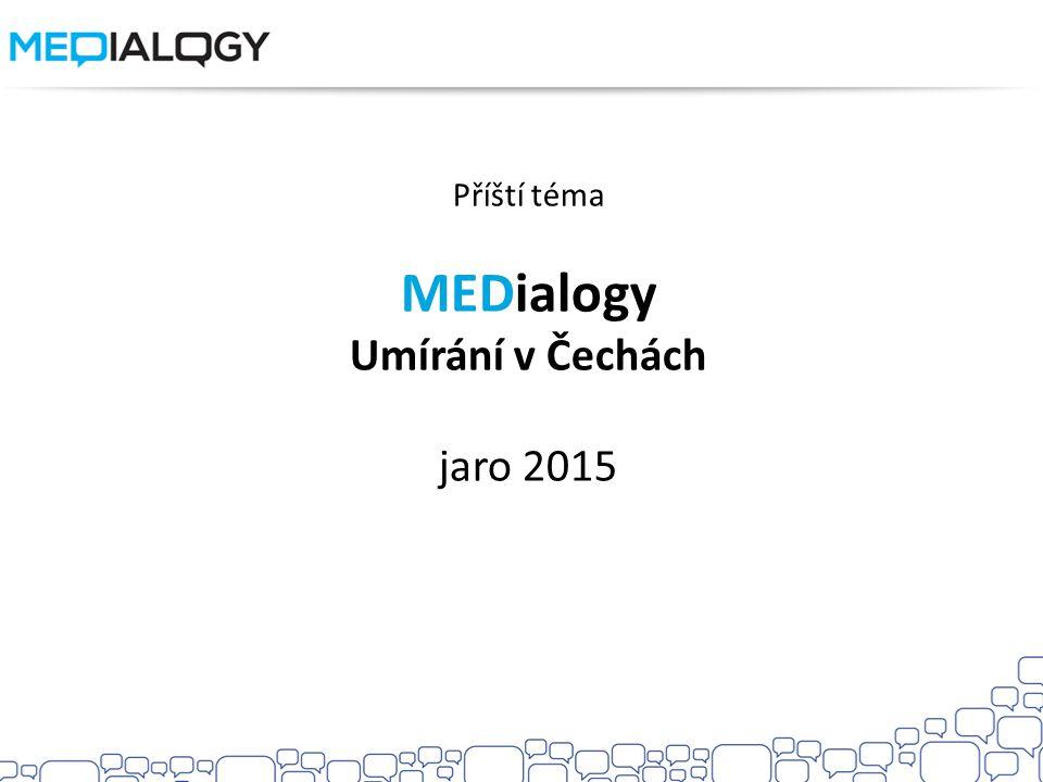 Příští téma MEDialogy Umírání v Čechách jaro 2015