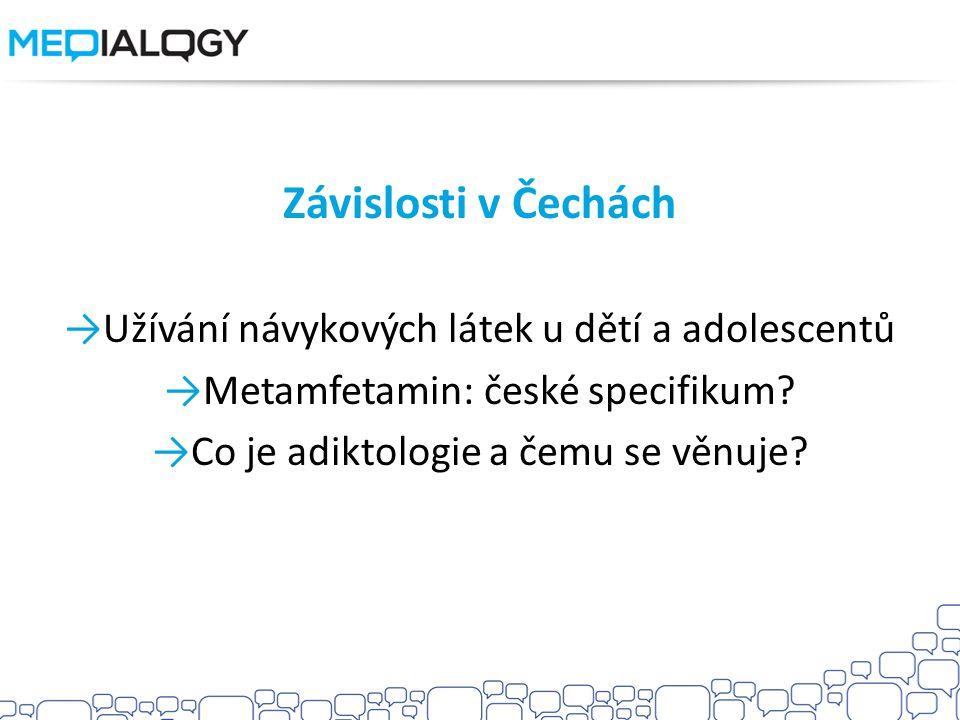 Závislosti v Čechách Užívání návykových látek u dětí a adolescentů