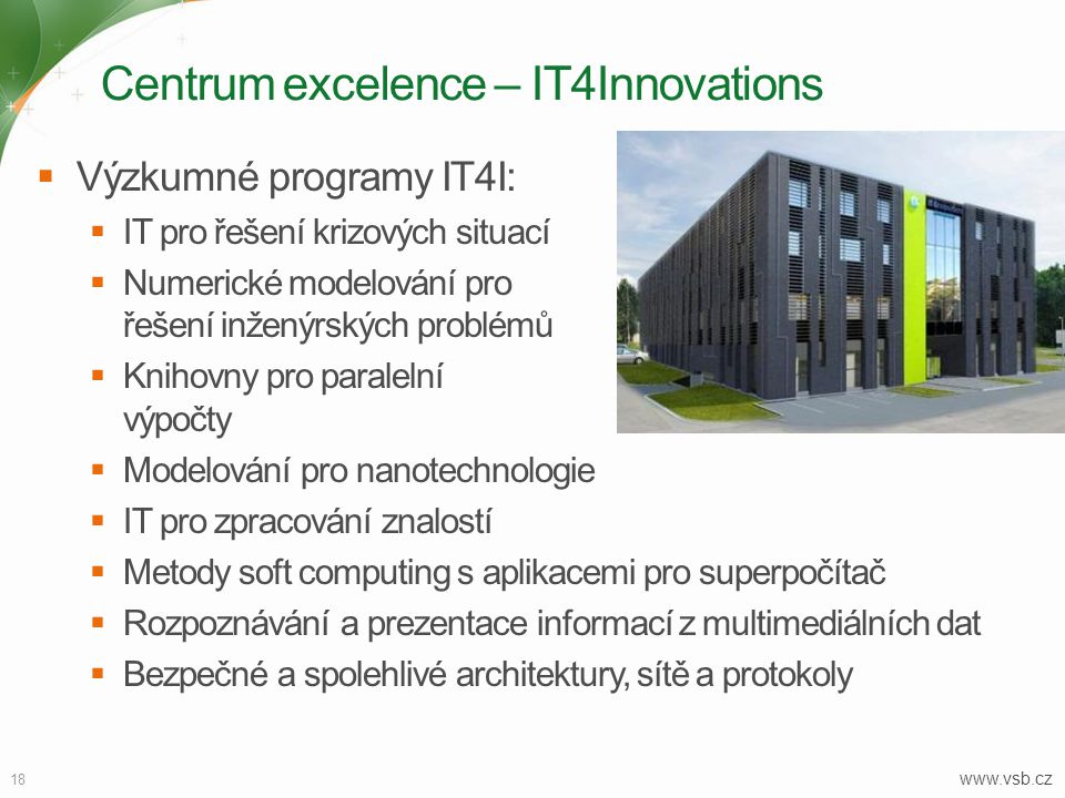 Centrum excelence – IT4Innovations