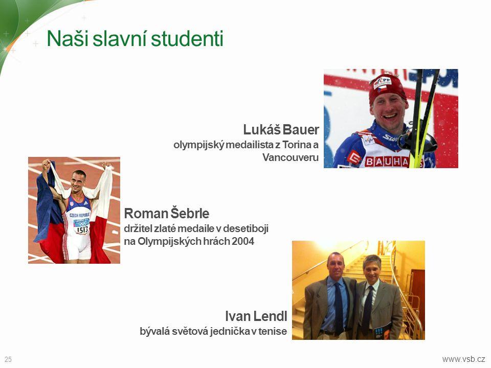Naši slavní studenti Lukáš Bauer olympijský medailista z Torina a Vancouveru.